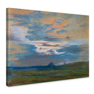 Leinwandbild Delacroix - Himmelsstudie bei Sonnenuntergang