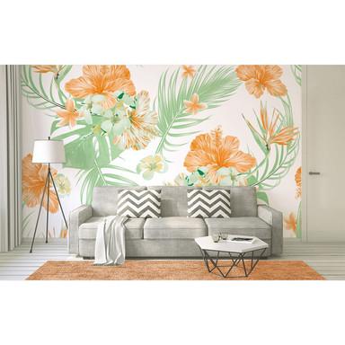 Livingwalls Fototapete Designwalls Tropical Art Blumen