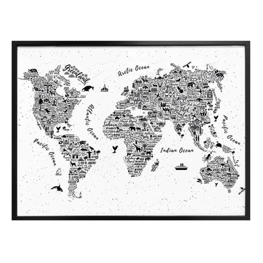 Poster Weltkarte - Around the world