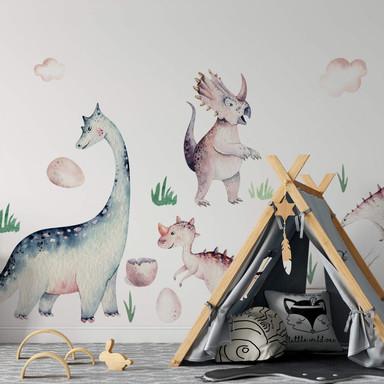Wandtattoo Kvilis - Welt der Dinos (19-teilig)