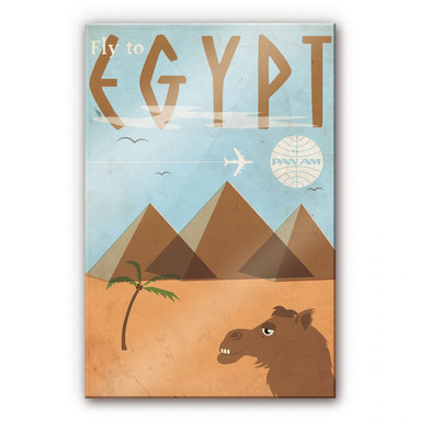 Acrylglasbild PAN AM - Fly to Egypt