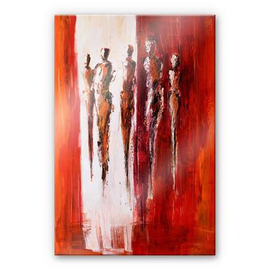 Acrylglasbild Schüssler - Fünf Figuren in Rot