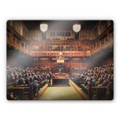 Glasbild Banksy - Devolved Parliament