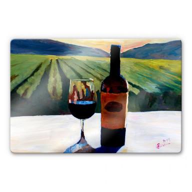 Glasbild Bleichner - Wein in Napa Valley