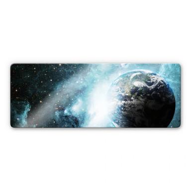 Glasbild In einer fernen Galaxie Panoraama