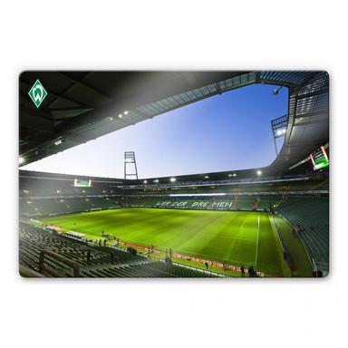 Glasbild Weserstadion Innen