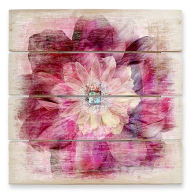 Holzbild Pink Peony