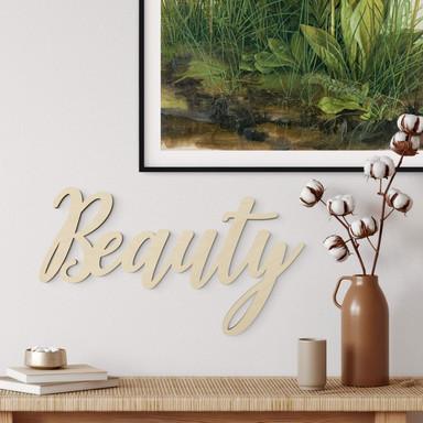 Holzbuchstaben - Beauty - Pappel