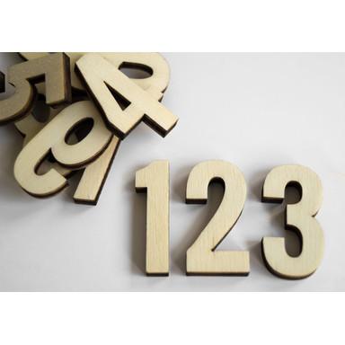 Holzbuchstaben Pappel - Zahlen - Oswald (10-teilig)