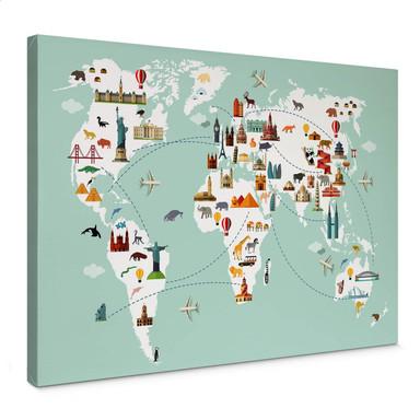 Leinwandbild - Travel the World