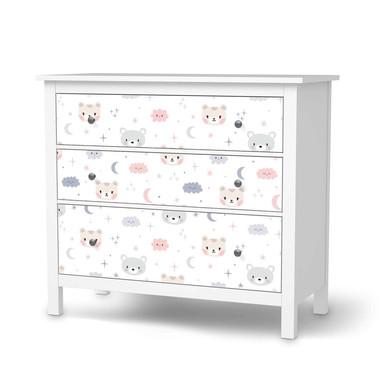 Möbelfolie IKEA Hemnes Kommode 3 Schubladen - Sweet Dreams