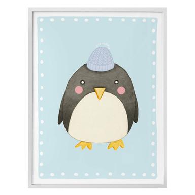 Poster Loske - Pinguin - blau