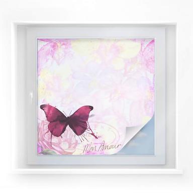 Sichtschutzfolie Pink Butterfly