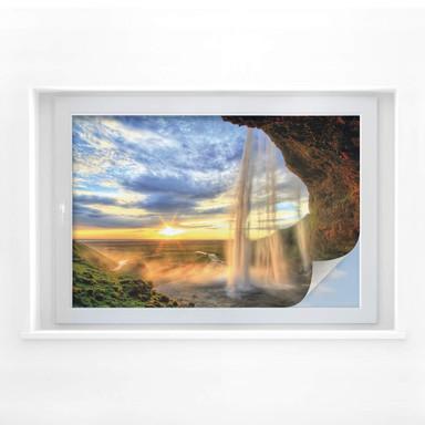 Sichtschutzfolie Seljalandsfoss Wasserfall