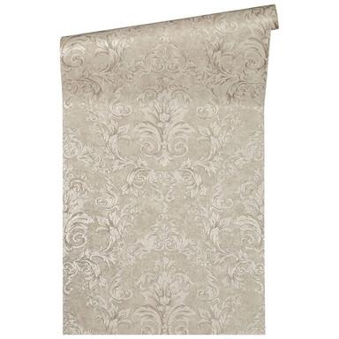 Versace Home Mustertapete Tapete Pompei Beige, Grau, Metallic