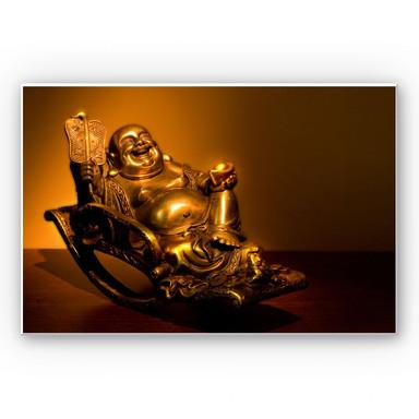 Wandbild Happy Buddha