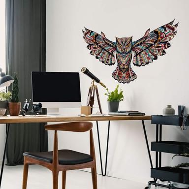 Wandtattoo Metallic Owl