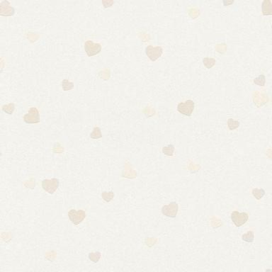A.S. Création Tapete Boys & Girls 6 mit Herzen Love beige, creme, metallic