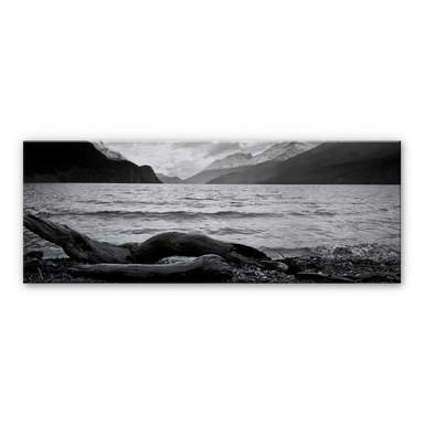 Alu Dibond Bild Log and Lake - Panorama