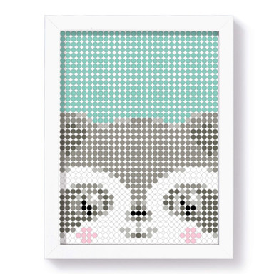 Dot-On Klebeposter L - Racoon 30x40cm - Bild 1