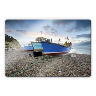 Glasbild Fischereiboote