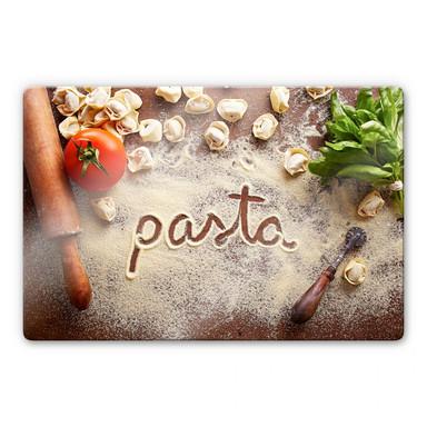 Glasbild Pasta - Tortellini