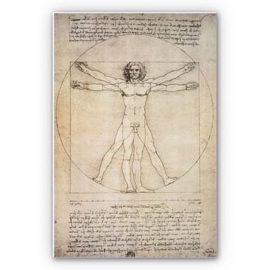 Hartschaumbild Da Vinci - Proportionszeichnung
