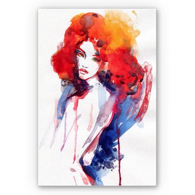 Hartschaumbild Die Frau mit dem feuerroten Haar