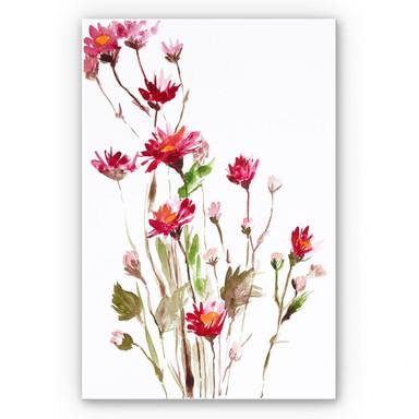 Hartschaumbild Illustrierte Wildblume