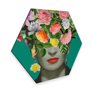 Hexagon - Alu-Dibond Feldmann - Frida Floral