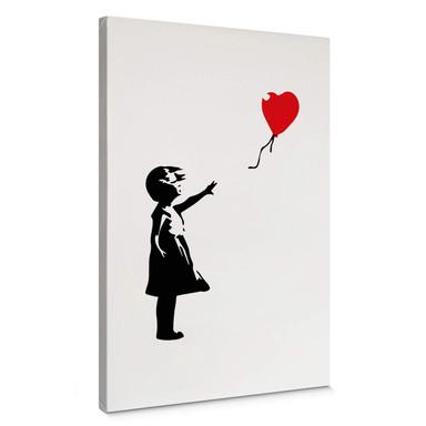 Leinwandbild Banksy - Girl with the red balloon