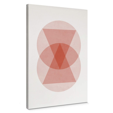 Leinwandbild Nouveauprints - Circles and triangles pink