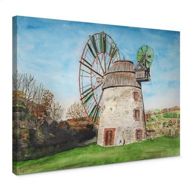 Leinwandbild Toetzke - Holländerwindmühle