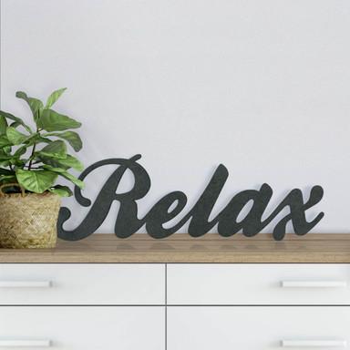 MDF-Holzbuchstaben Relax