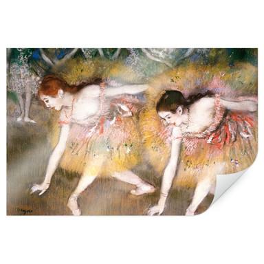 Poster Degas - Sich verbeugende Ballerinen