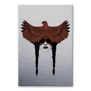 Alu-Dibond-Silbereffekt Ireland - Dark Cardinal