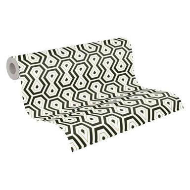 Architects Paper Vliestapete Jungle Chic Retrotapete geometrisch gold, schwarz, weiss