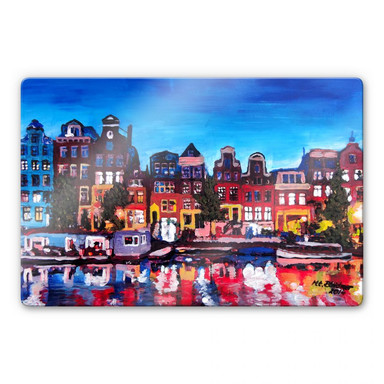 Glasbild Bleichner - Amsterdam