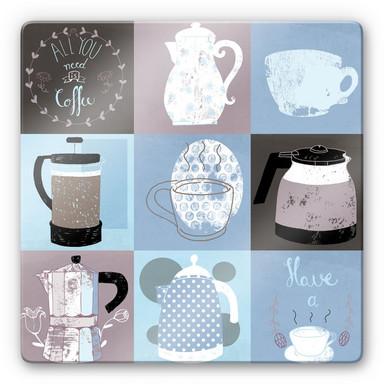 Glasbild Loske - Coffee Time