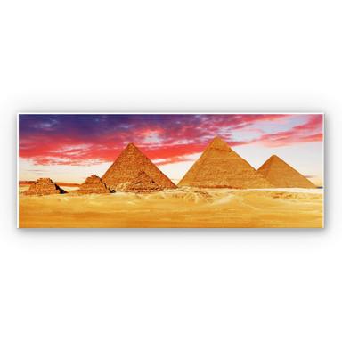Hartschaumbild Die Pyramiden von Gizeh - Panorama