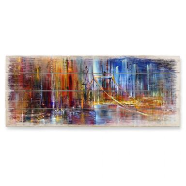 Holzbild Schmucker - Stadtansicht – Panorama