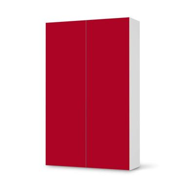 Klebefolie IKEA Besta Schrank 2 Türen (hoch) - Rot Dark
