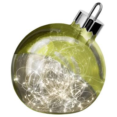 LED Dekoleuchte Ornament in Grün 200 mm