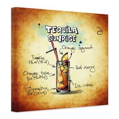 Leinwandbild Tequila Sunrise - Rezept