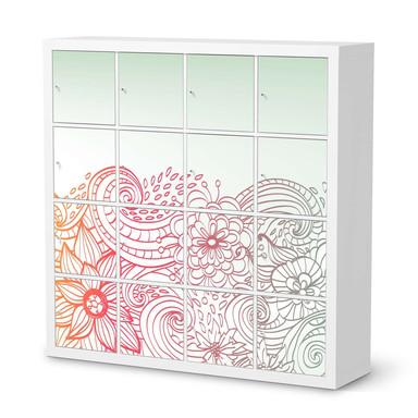 Möbelfolie IKEA Expedit Regal 16 Türen - Floral Doodle