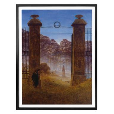 Poster Friedrich - Der Friedhof