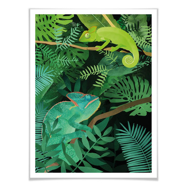 Poster Goed Blauw - Chamäleons