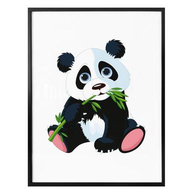Poster Naschender Panda