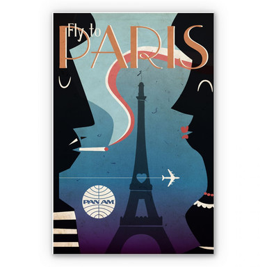 Wandbild PAN AM - Fly to Paris