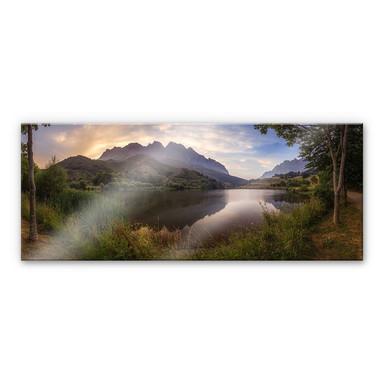 Acrylglasbild Cuadrado - Paradise Pond - Panorama